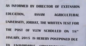 VLEW exam postponed